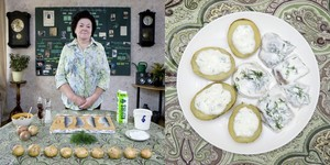 Latvia © Gabriele Galimberti Inara Runtule, 68 years old  Kekava, Latvia Silke ?? (herring with potatoes and cottage cheese)