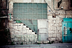 Abandoned Palestinian home in Shuhada Street, Hebron. July 2011 © Lars Håberg