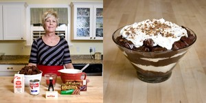 Melanie Hill , 50 years old, American Fork, Utah, USA. Chocolate Toffee Trifle © Gabriele Galimberti
