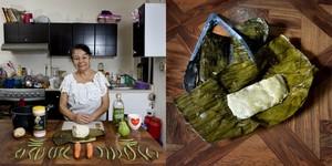Laura Ronz Herrera, 81 years old, Veracruz, Mexico. Vegetarian Tamal © Gabriele Galimberti