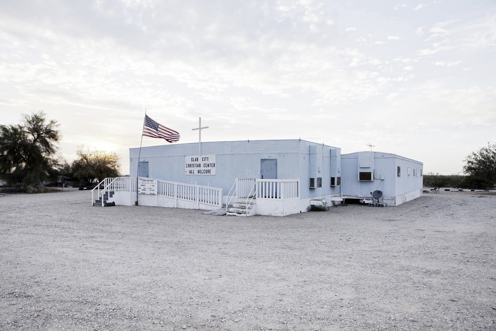 Slab City christian church.