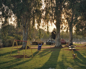 "Children's playground, Kiryat Shmona, northern Israel. From ""Forensic Traces of War"" © Simon Norfolk"