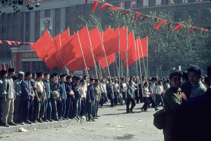 October 1, 1966. Demonstration for the National Holiday on Chang'an avenue. © Solange Brand