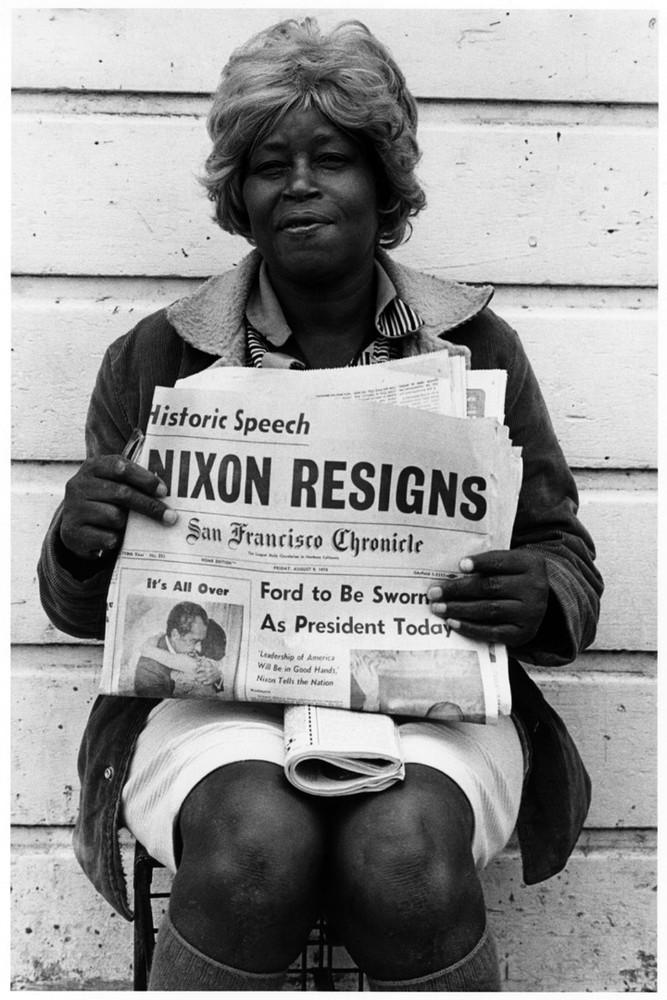 Nixon Resigns, Oakland, 1974.