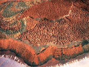 """Waste ore dump, Lake Lefroy, south of Kalgoorlie, Western Australia, Australia, from the series """"Abstract Earth"""" © Richard Woldendorp"""