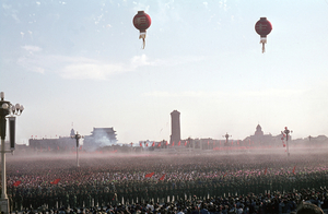 October 1, 1966. A dust cloud in Tian'anmen Square. © Solange Brand