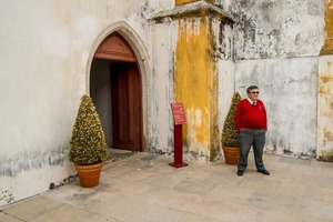 SINTRA, PORTUGAL A guard at the entrance of the National Palace of Sintra displays self confidence and authority. In a culture where hierarchy is still pertinent , being the master of your own square meter is more relevant than one might think. As a photographer, I have experienced the capriciousness of security guards many times. This is my tribute to them. © Carlos Spottorno