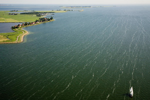 "IJsselmeer, inner sea (Zuyder Sea). From the book ""The Low Land"" © Siebe Swart"