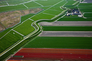 "Westfrisian Surrounding Dike (former sea wall). From the book ""The Low Land"" © Siebe Swart"