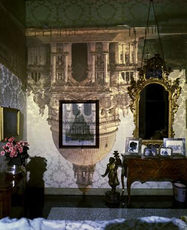 Camera Obscura Image of Santa Maria della Salute in Palazzo Bedroom. Venice, Italy, 2006 © Abelardo Morell