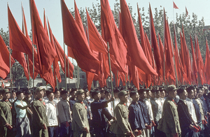 October 1, 1966. Demonstration for the National Holiday on Chang'an avenue. On this day, close to 2 million people marched. The army men wear khaki uniforms, and the majority of the citizens dress in blue. © Solange Brand