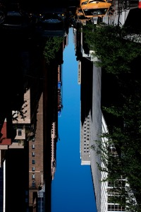BUILDINGS MADE OF SKY VII (detail), 2009 © Peter Wegner