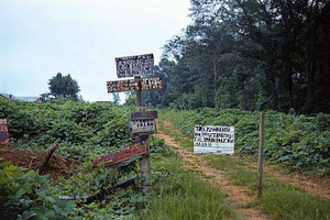Signs in Landscape, Near Marion, Alabama, 1975