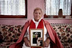 Tesma Elezovic is looking for her son since 1992. He disappeared during the ethnic cleansing campaigns by Serb forces in the summer of 92. Kozarac, northwest Bosnia.© Ole Elfenkämper