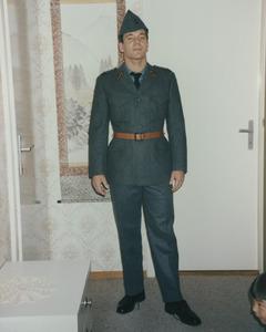 Papa en militaire et moi