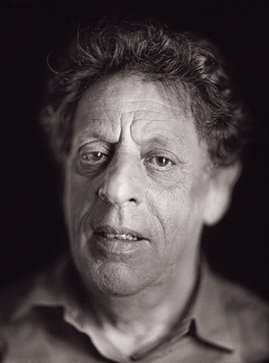 Philip Glass by Chuck Close from A Couple of Ways of Doing Something (Aperture 2006)