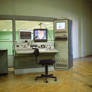 Medical control panel ,TsF-7 dynamic trainer centrifuge, Star City. © Maria Gruzdeva