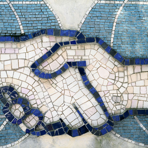 Decorative mosaic, detail, Star City.     © Maria Gruzdeva