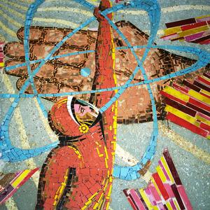 Decorative mosaic, Baikonur city museum, Baikonur. © Maria Gruzdeva