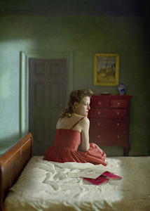 """Woman With Book And Letter. From the series """"Hopper Meditations"""" © Richard Tuschman"""