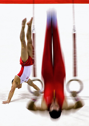 1st prize Sports Action Singles, © Max Rossi, Italy, Reuters, World Championship Gymnastics, Denmark, 14 October