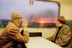 "Father and Sunset. From the exhibition ""Landscapes"" © Tom Wood"
