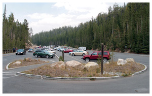 """Twentyone Yellowstone Parking Lots"" © 2013, Lewis Koch"
