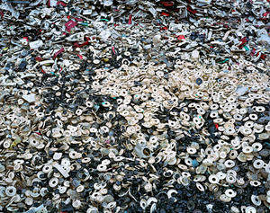 China Recycling #5, Phone Dials, Zeguo, Zhejiang Province, 2004 © Edward Burtynsky