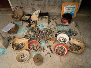 China Recycling #12, Ewaste Sorting, Zeguo, Zhejiang Province, 2004 © Edward Burtynsky