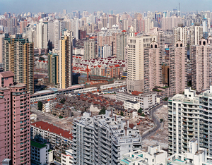 Urban Renewal #5, City Overview From Top of Military Hospital, Shanghai, 2004 © Edward Burtynsky