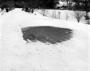 "At a park in Fukushima city. The geiger counter of the photographer indicates 1 micro sv per hour. From the series ""Fragments/Fukushima"" © Kosuke Okahara"