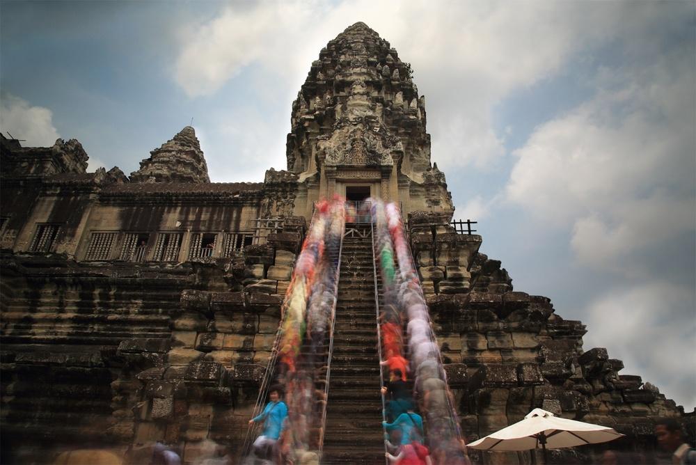 Like Fish We Swim. Angkor Wat, Cambodia.