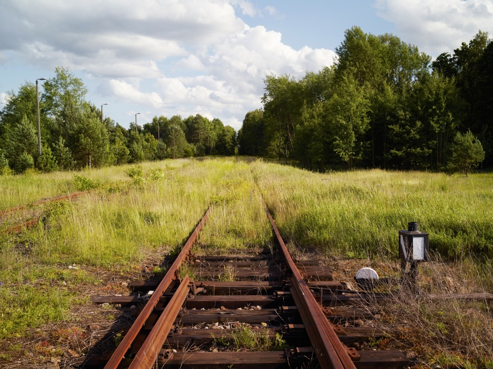 Train track near the Sobibór extermination camp site, Sobibór 2014