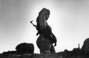 """The Western Sahara. Polisario Front in Guelta Zemmour. 1981. From the book """"War Photographer: Between Shadow and Light"""" © Christine Spengler"""