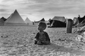 """The Western Sahara. Camp at Tindouf. 1976. From the book """"War Photographer: Between Shadow and Light"""" © Christine Spengler"""