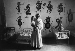"""The Western Sahara. Nursery of the Polisario Front. 1976. From the book """"War Photographer: Between Shadow and Light"""" © Christine Spengler"""