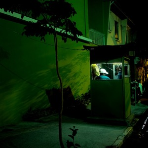 João, night sentry. He has two brothers who also work as watchmen. © Stefan Schmeling