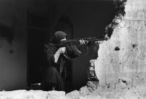 "Lebanon. West Beirut. 1982. From the book ""War Photographer: Between Shadow and Light"" © Christine Spengler"
