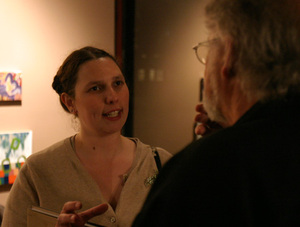 Sylvia Plachy reception and book signing after the lecture at San Francisco's PhotoAlliance