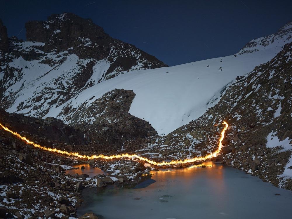 The melting away of the Lewis Glacier on Mt. Kenya, 1983. 1st Place, Fine Art Series, LensCulture Earth Awards 2015.