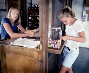 Girls at post office, 1999. © Blake Fitch