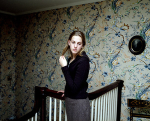 Katie with yellow wallpaper, 2004. © Blake Fitch
