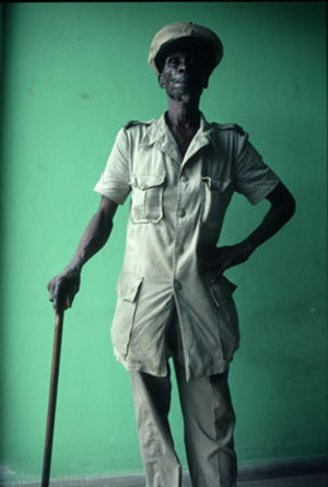 Ahouatcha Mahinou at the Maison du Combattant in Cotonou, Benin, 1991. Country: Benin, Born: 1922, Served: French Army, Conflict: World War II 1939-45. © Lori Grinker, courtesy of Nailya Alexander Gallery
