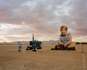 Baby with tractor at sunset, from the series, Transience © Stephen Chalmers