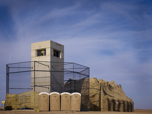 Watchtowers on the perimeter of Camp Bastion. © Simon Norfolk.