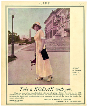 Take a Kodak with you, advertisement in LIFE Magazine, May 16, 1912.