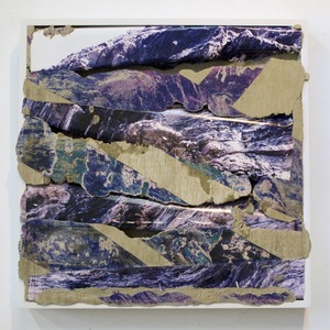 Letha Wilson, Colorado Purple, 2012. Concrete, chromogenic print transfer, and wood frame. Courtesy the artist and Higher Pictures, New York © Letha Wilson, courtesy Higher Pictures, New York