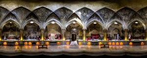 Vakil bath is a very popular historical site located in Shiraz, Iran. Panoramic photo made using 4 fisheye shots © Mohammad Reza Domiri Ganji, Iran. Shortlist, Panoramic, Open Competition. 2014 Sony World Photography Awards