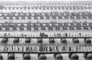 The pilgrims and devotees of the Maha Kumbh Mela — the largest spiritual gathering on the planet, held every 12 years © Wolfgang Weinhardt, Germany. Shortlist, Travel, Open Competition. 2014 Sony World Photography Awards