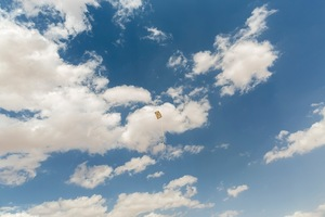 The sky over Zaatari Refugee Camp in Jordan. The children of Zaatari are flying kites as life carries on. Refugees in Zaatari RC have access to healthcare and schools but the camp is overcrowded and living conditions are harsh for many. © David Brunetti